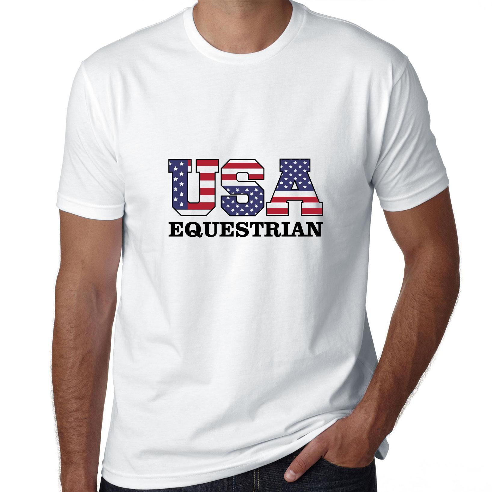 USA Equestrian - Olympic Games - Rio - Flag Men's T-Shirt