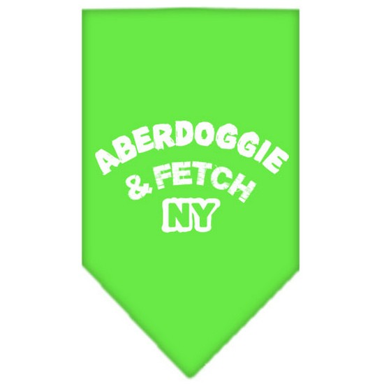 Aberdoggie NY Screen Print Bandana Lime Green Large