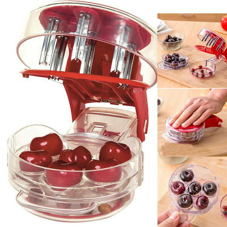 Cherries Pitter,Ymiko Cheery Cherries Pitter Seed Removing Tool Home Office Travel Fruit Stone Extractor