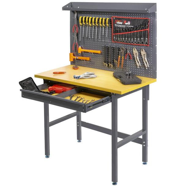 Xtremepowerus 48 Multipurpose Garage, Garage Workbench And Storage