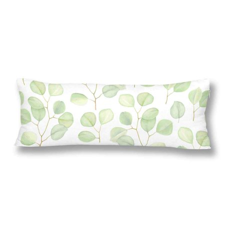 GCKG Greenery Branches Silver Dollar Eucalyptus Nature Body Pillow Covers Case Protector 20x60 inches - image 2 de 2