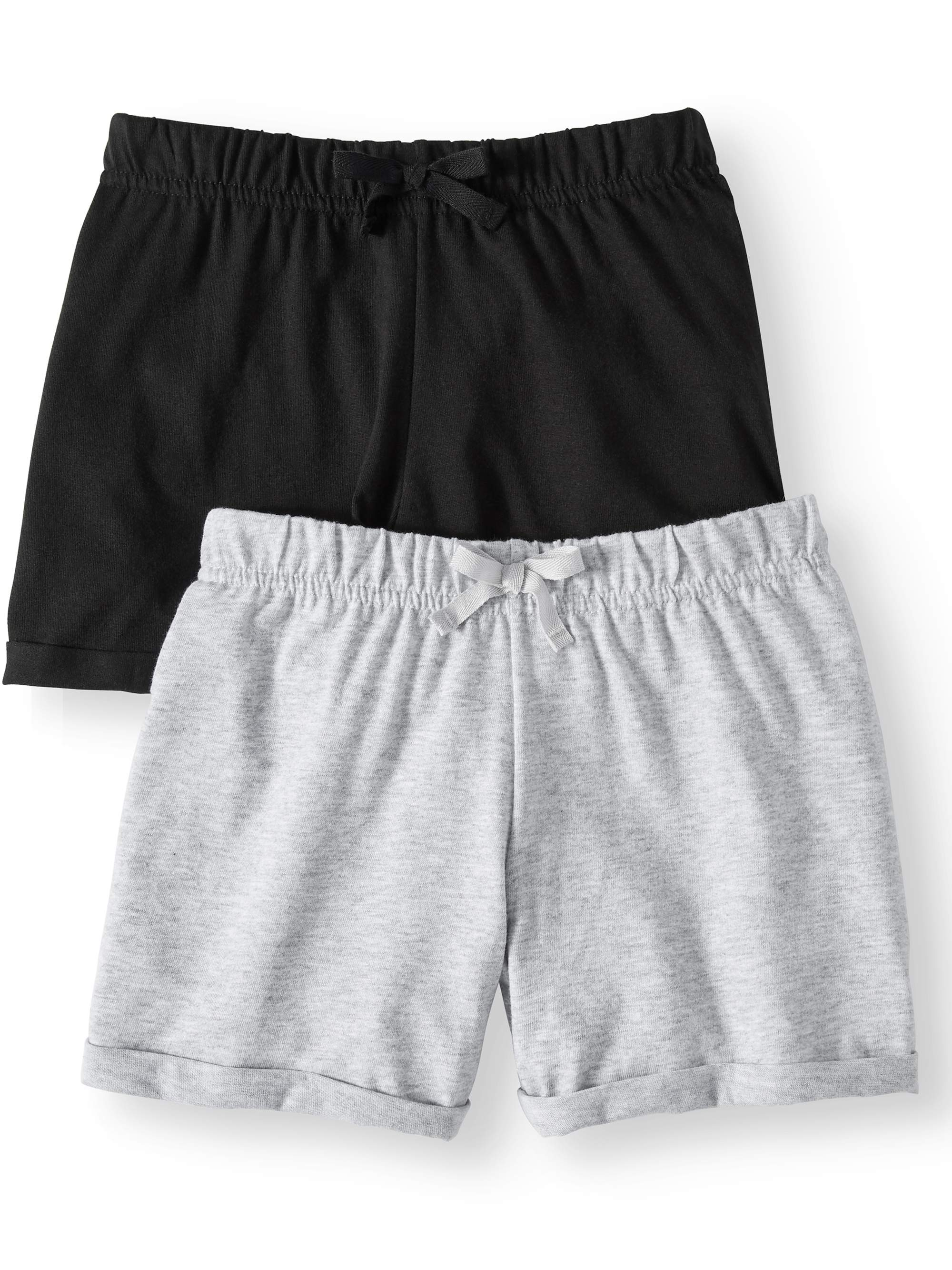 Casual Knit Shorts, 2-pack (Little Girls & Big Girls)