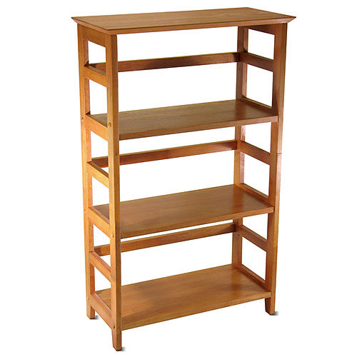 Beechwood 3-Shelf Open Bookcase, Honey Pine