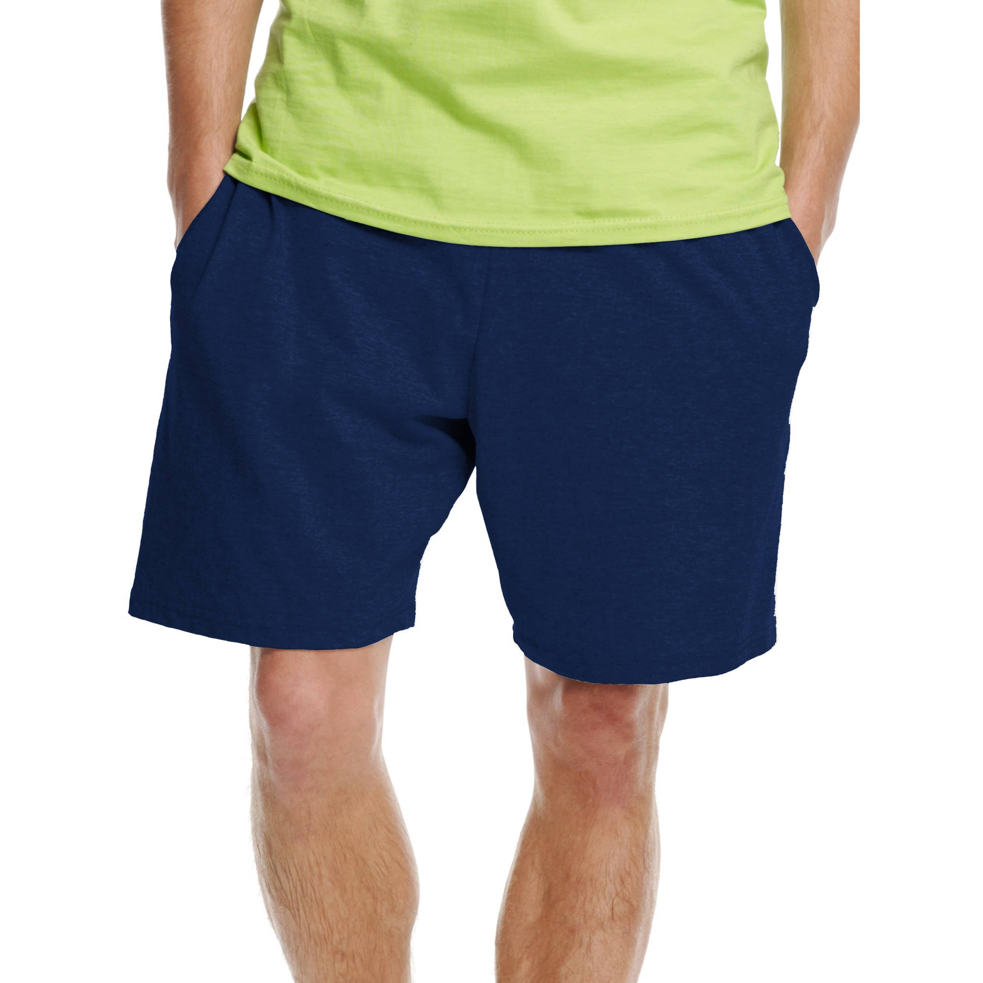 Hanes Men's Jersey Pocket Shorts - Walmart.com