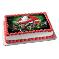 Ghostbusters Logo Slimer Stay Puft Marshmallow Man The Video Game Edible Cake Topper Image