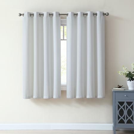 Mainstays Dixie Metallic Studs Window Curtain Panel, Multiple Colors Available](Metallic Curtain)