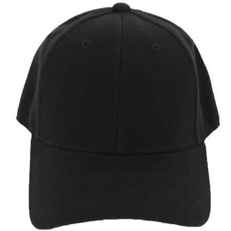 Decky Men's Fitted Blank Curved Brim Baseball Hat Cap