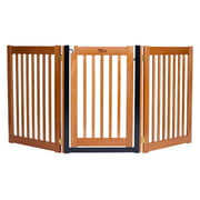 Dynamic Accents 42624 32 in. Walk-Through 3 Panel Free Standing Gate -Artisan Bronze