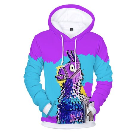 Cocoon Sweater Coat - Fortnite Llama Hoodie Sweater Fleece Jacket unisex Sweatshirt Cosplay Costume-S