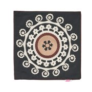 """Noble House Thierno Decorative Throw Pillow Cover, 20"""" x 20"""", Black, White and Brown"""