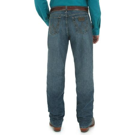 Denim Extra Long Jeans - Wrangler Men's 20X Cool Vantage Competition Jeans Storm Blue - 01Mcvsb