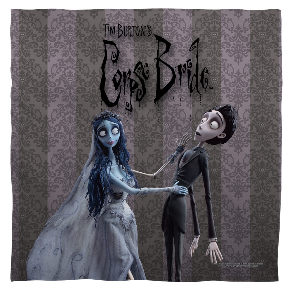 Corpse Bride Bride And Groom Poly 22X22 Bandana White One Size