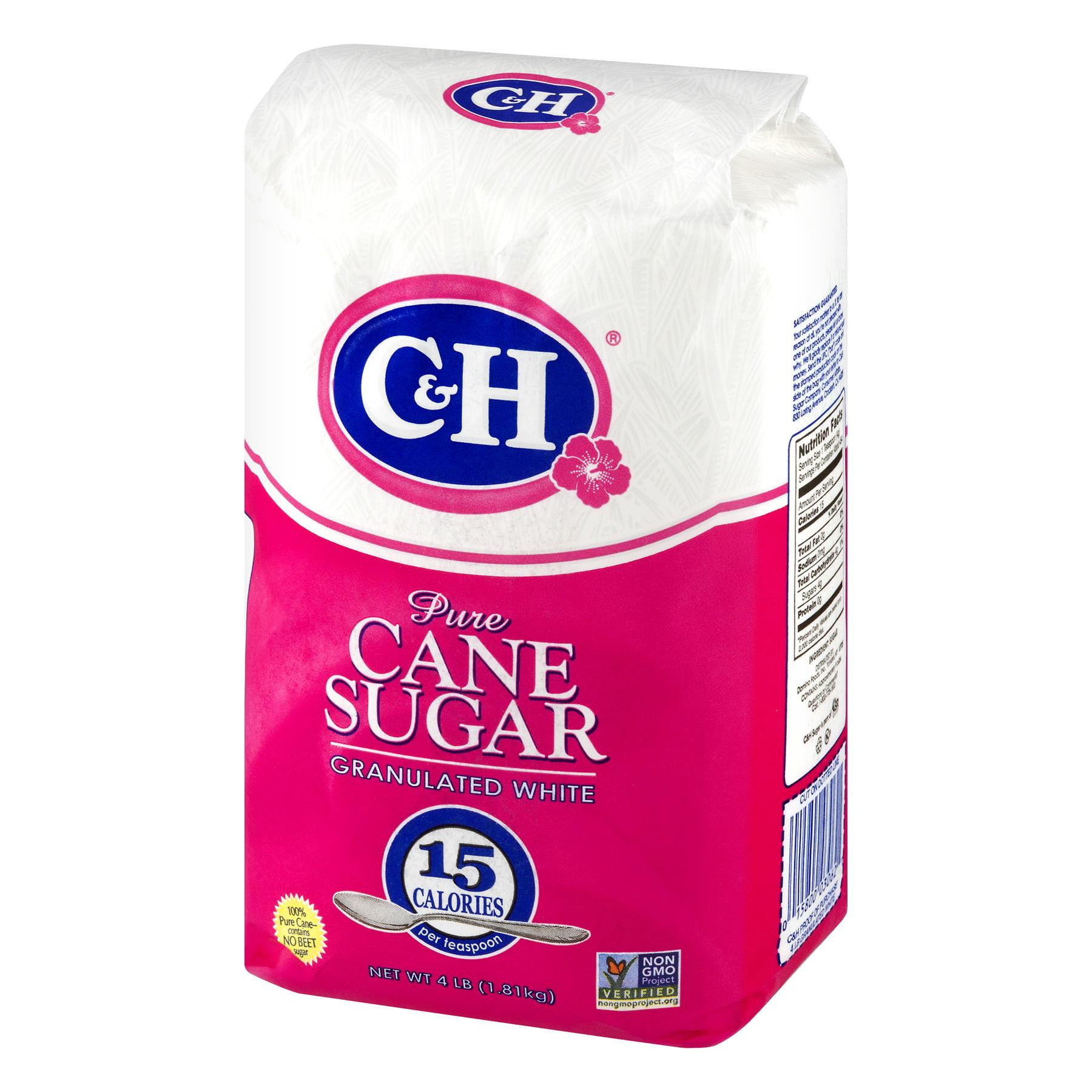C & H Pure Granulated White Cane Sugar, 4 lb - Walmart.com