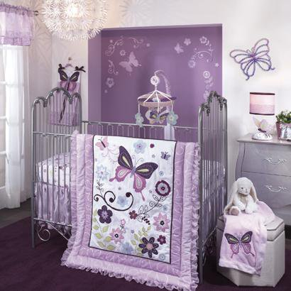 Lambs and Ivy Butterfly Lane 5 Piece Bedding (5 Piece Butterfly Set)