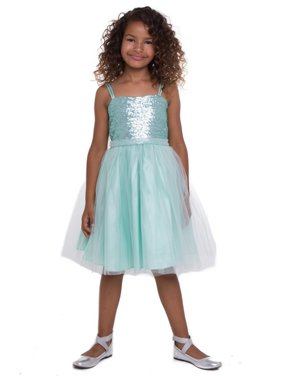 a957b1dc9 Product Image Girls Mint Sequined Top Tulle Junior Bridesmaid Dress 8-12