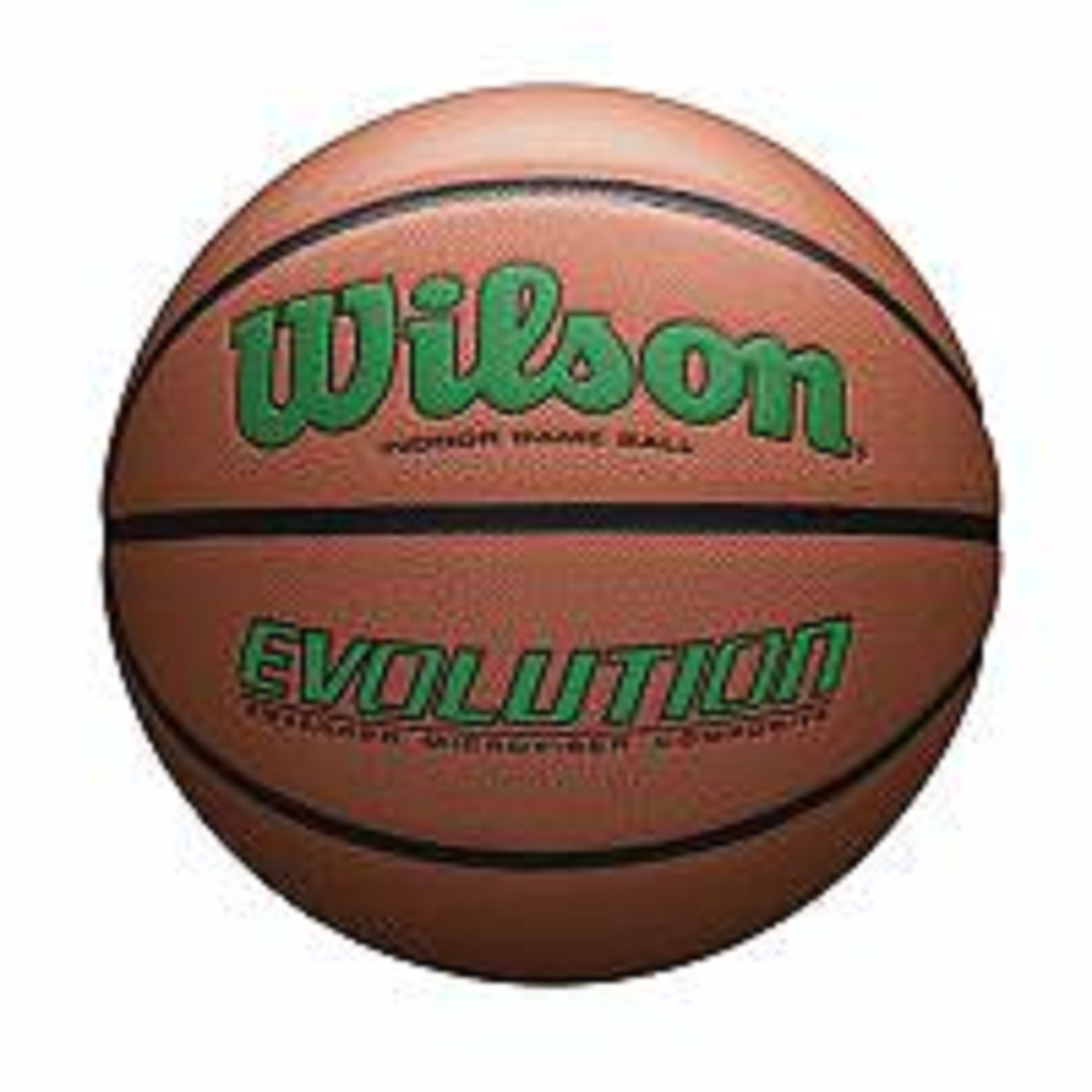 Wilson Evolution Official Size Game Basketball-Green