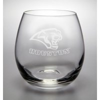 Houston Cougars Deep Etched Stemless White Wine Glass