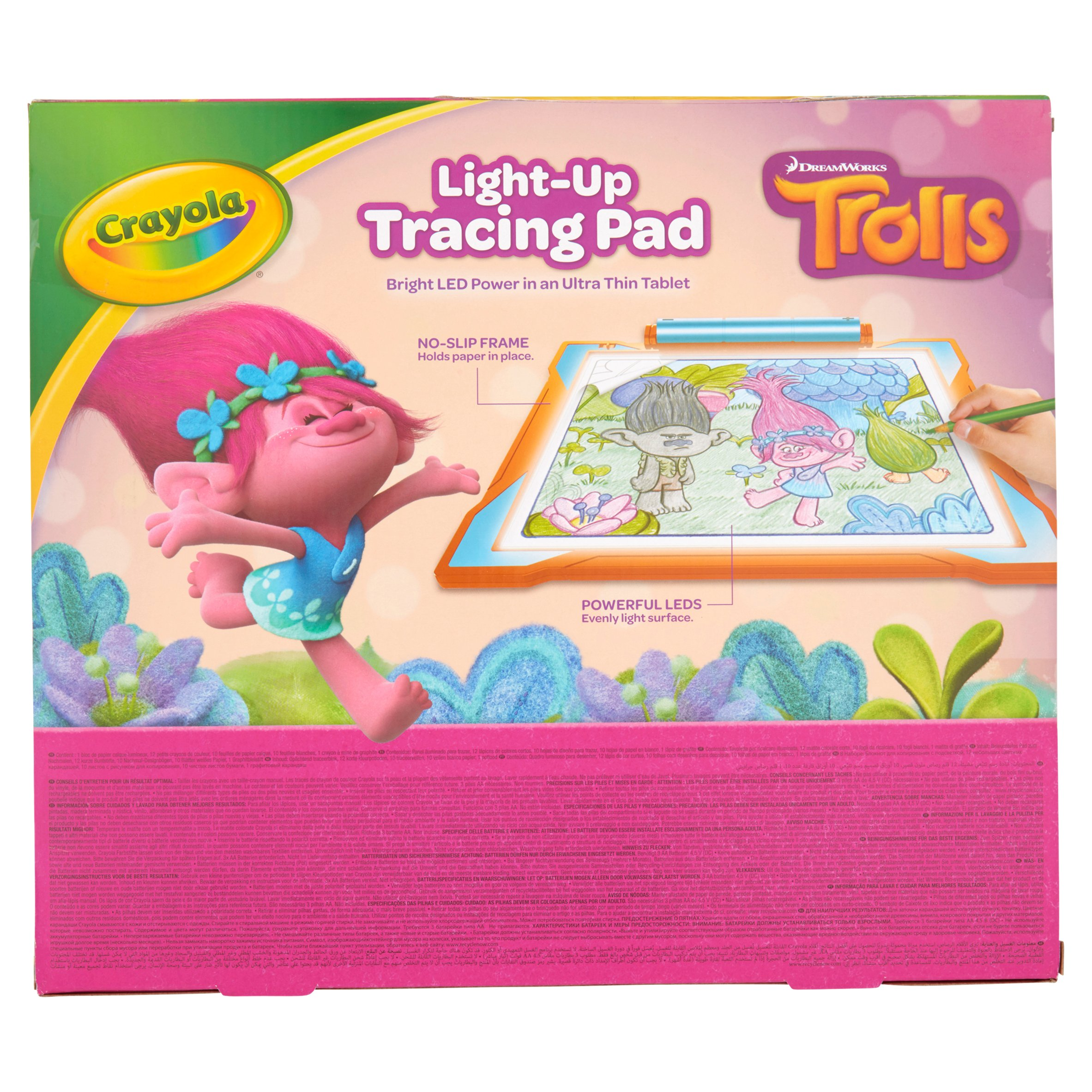 crayola light up tracing pad featuring trolls 20 pieces walmart com