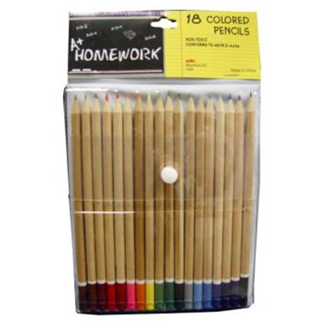 DDI 1192879 Colored Pencils - Natural Barrel - 18 pack Case Of 48
