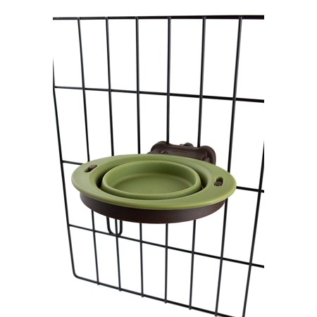 Popware for Pets Pivot Collapsible Kennel Cup, Small, Green, Item measures: 6.125 x 7.125 x 1.47 inches By Dexas