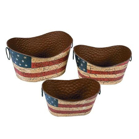 Fun Express - Americana Decorative Pails for Fourth of July - Home Decor - Decorative Accessories - Home Accents - Fourth of July - 3