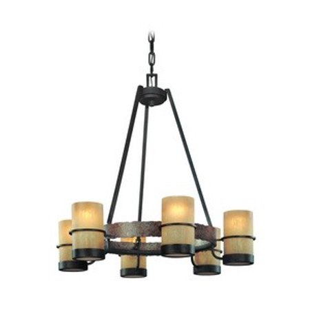 Troy Lighting-F1846BB-Bamboo - Six Light Chandelier Bamboo Bronze