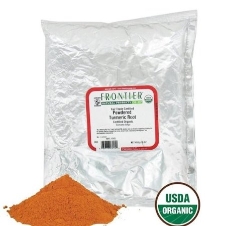 Frontier Natural Products Organic Turmeric Root Powder, 16 Oz