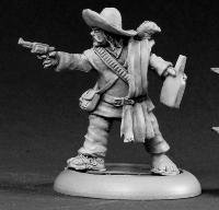 Lobo Sanchez Mexican Bandito Chronoscope Miniature Figures by Reaper Miniatures Multi-Colored