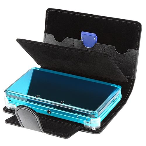 Insten Black Synthetic Leather Case Bag Skin Pouch For Nintendo 3DS