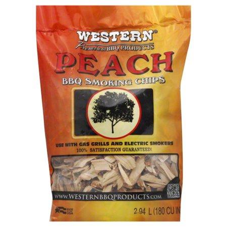Western Bbq (Western Premium BBQ Products Peach Smoking Chips 180 CU)