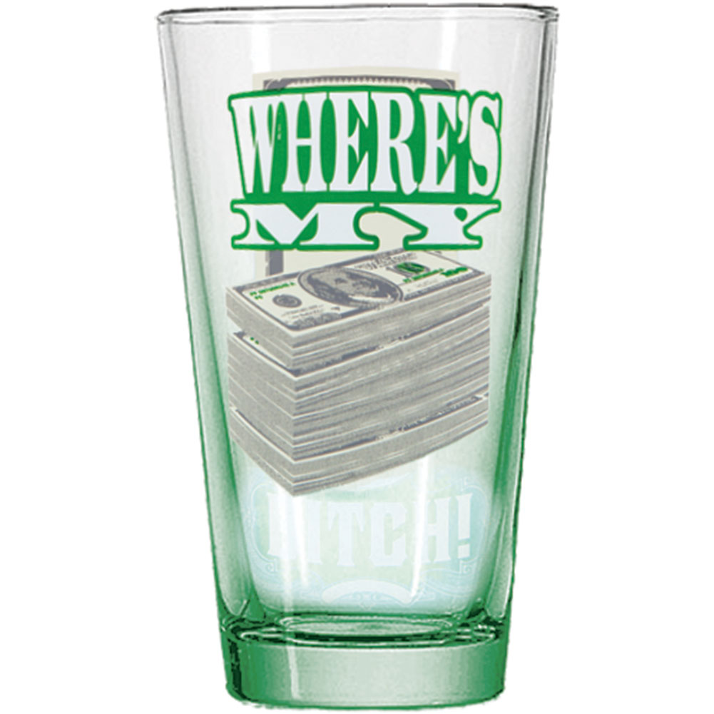 Breaking Bad Where's My Money 16oz Pint Glass by Just Funky
