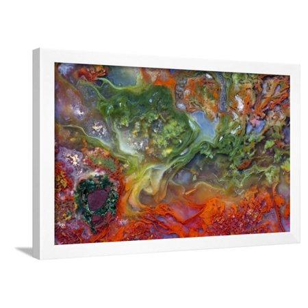 Agate in Colorful Design, Sammamish, WA Framed Print Wall Art By Darrell Gulin ()