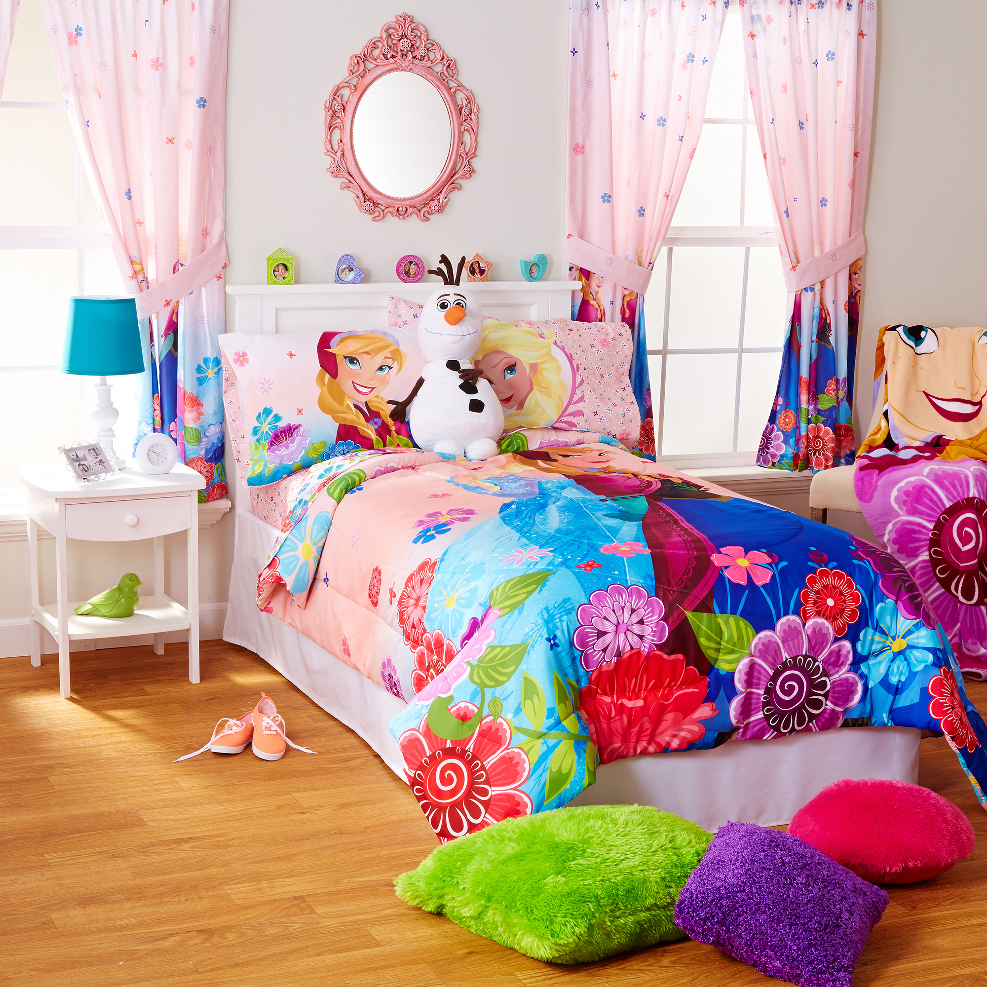 Delicieux Disney Frozen Floral Breeze Sheet Set, Pink   Walmart.com