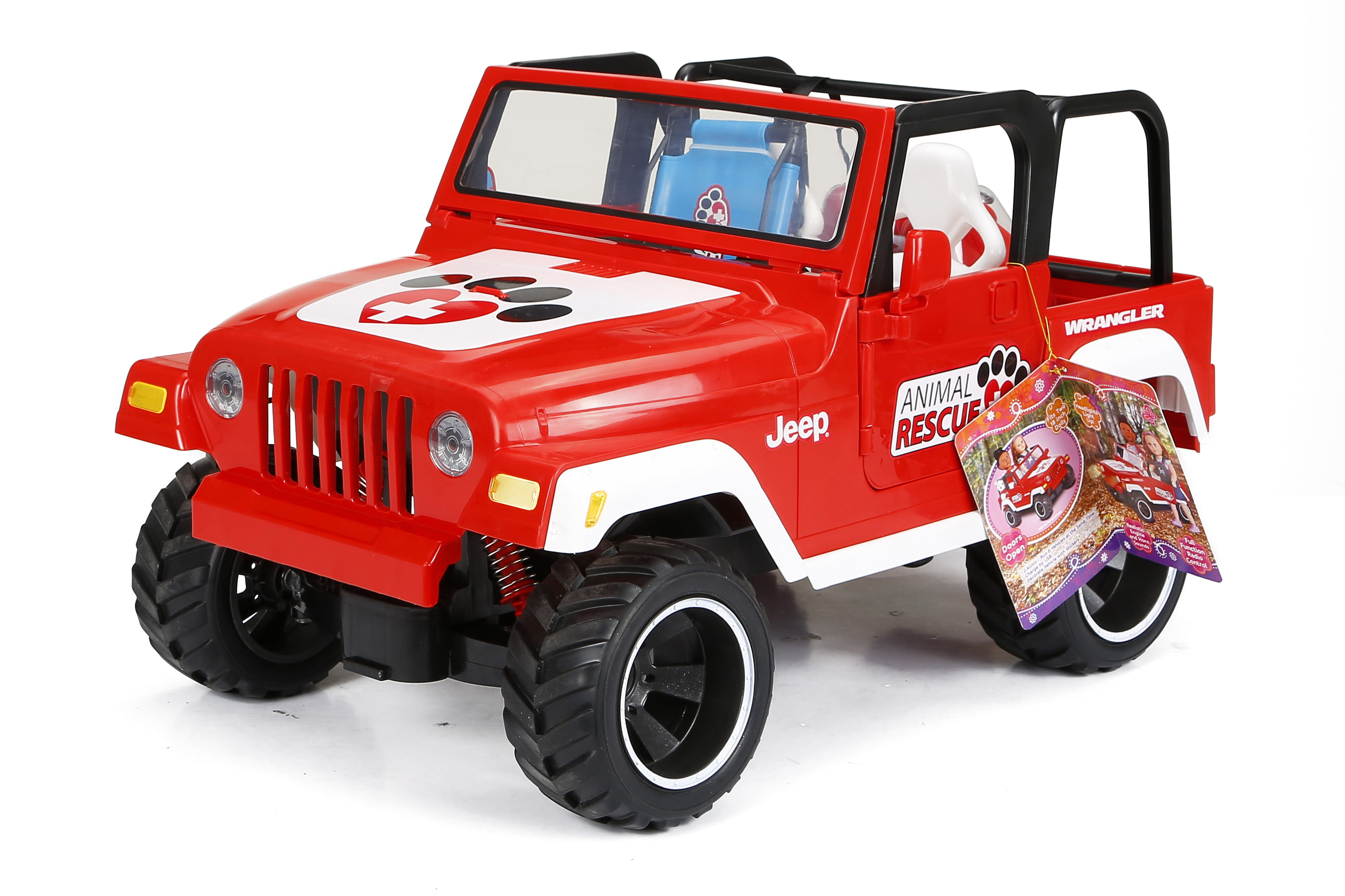 "My Life As RC Remote Controlled Animal Rescue Jeep for 18"" Dolls, Red 2.4GHz"