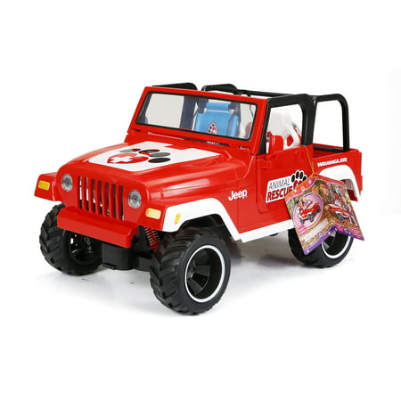 "My Life As Animal Rescue Jeep for 18"" Doll, Red"