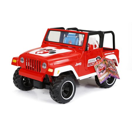 "My Life As RC Remote Control Animal Rescue Jeep for 18"" Dolls, Red"