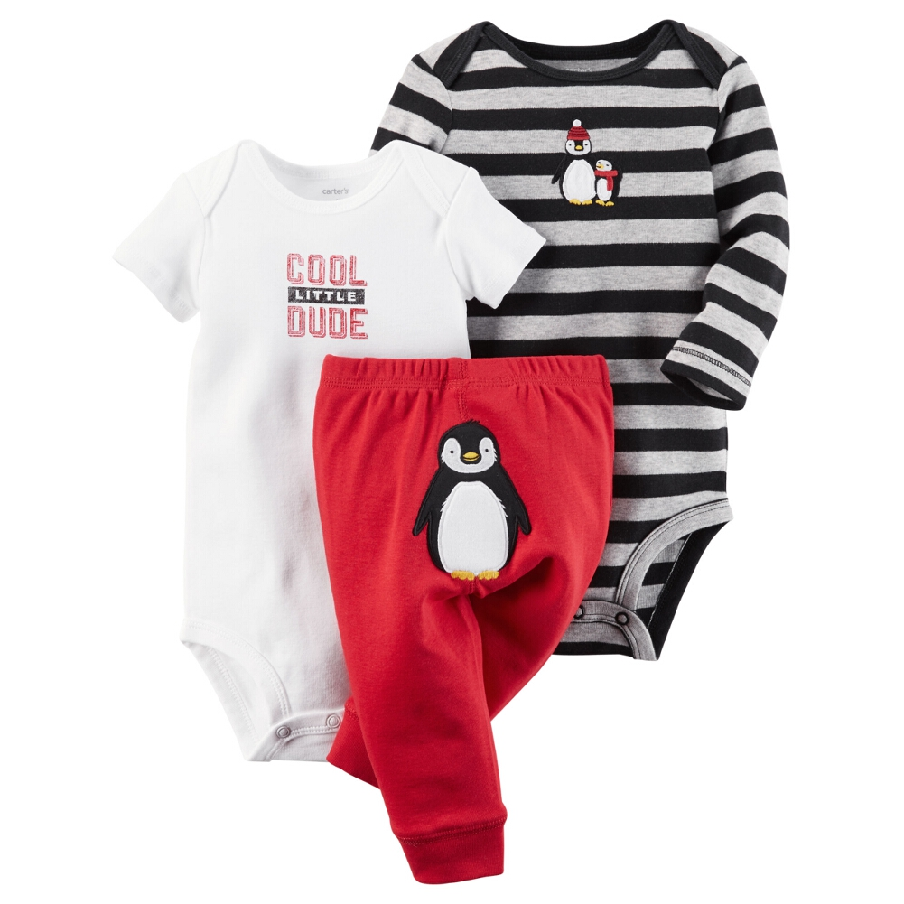 Carters Baby Clothing Outfit Boys 3 Piece Little Character Set