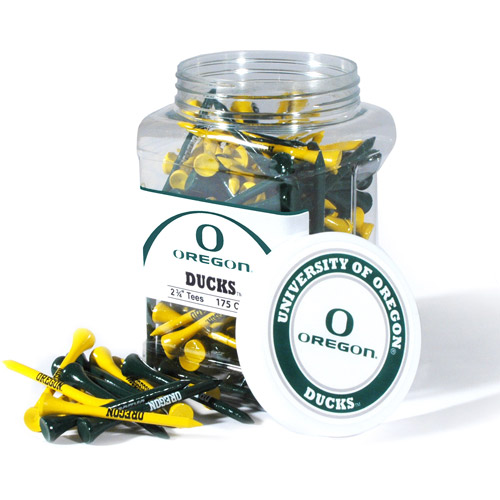 Team Golf NCAA Oregon Jar Of 175 Golf Tees