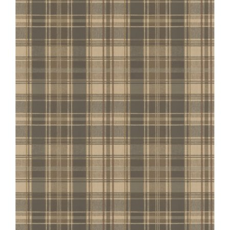 Plaid Wallpaper - Brewster Moore Plaid Wallpaper