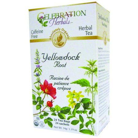Celebration Herbals Yellowdock Organic Root Thé sans Caféine 24 sachets de thé à base de plantes