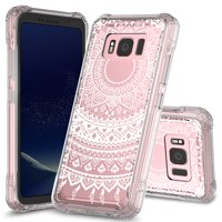 Galaxy S8 Active Case, KAESAR Pattern Designed Slim Scratch-Resistant Shockproof Hard PC+TPU Bumper Protective Armor Defender Cover for Samsung Galaxy S8 Active (Mandala Henna)