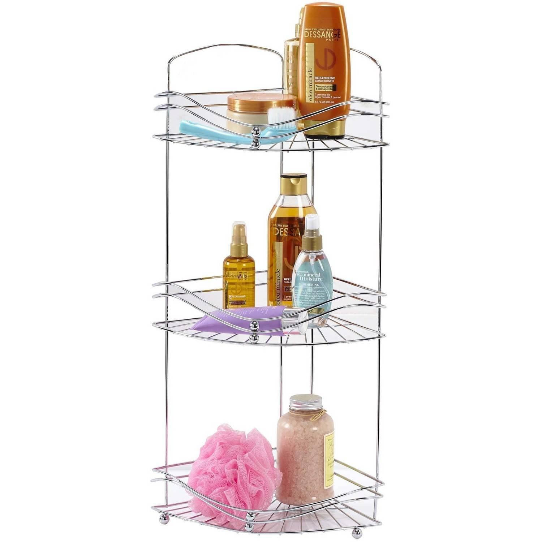 Bath Bliss 3-Tier Corner Bath Shelf Organizer, Chrome by Kennedy International, INC.