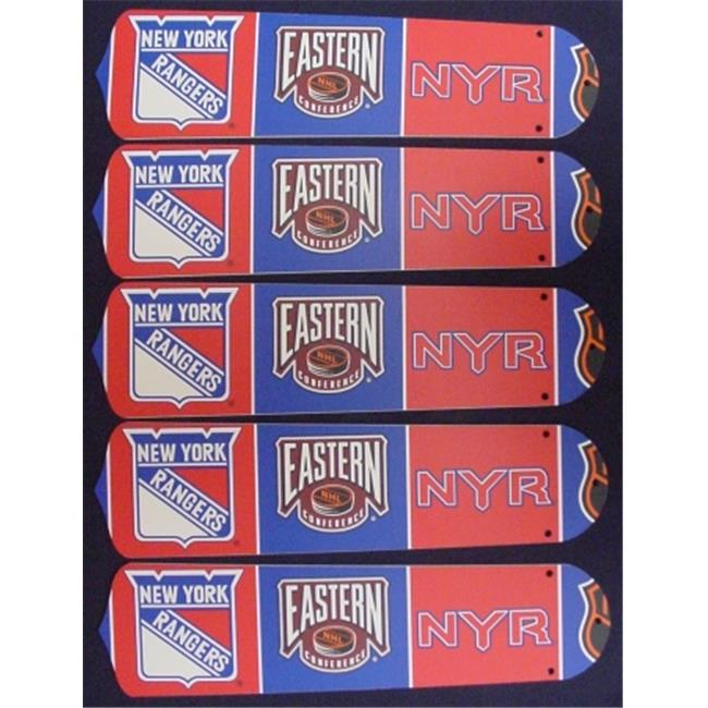 Ceiling Fan Designers 52SET-NHL-NYR New NHL NEW YORK RANGERS 52'' Ceiling Fan BLADES ONLY