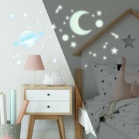 RoomMates Glow-in-the-Dark Celestial Stars Peel and Stick Wall Decals