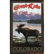 ArteHouse 0003-0491 Lake Moose Planked Wood 14 x 23 Sign