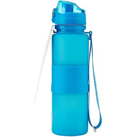 design for living 22 ounce flip top locking lid silicone water