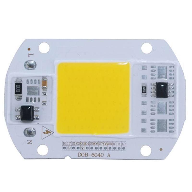 Anonyme 220V LED Floodlight 20W//30W//50W White//Warm Light COB Chip Integrated Smart IC Driver Lamp Warm Light 30W