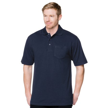 Tri-Mountain Men's Big And Tall Pique Pocket Polo (Tall Pique Polo)