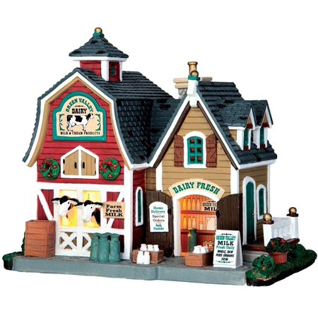 Lemax 65116 Christmas Village Building Green Valley Milk, Porcelain