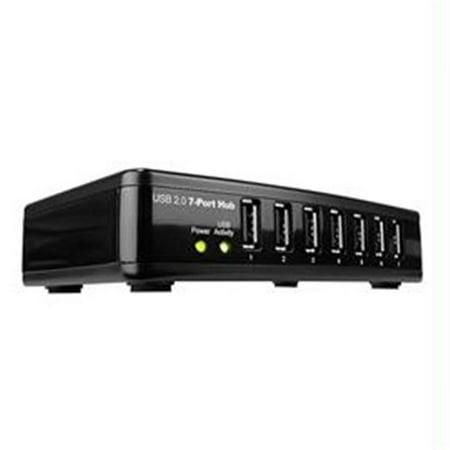 Rosewill Rhub 300 Rosewill Network Rhub 300 Usb 2 0 Hub 7 Port Hub With Power Adapter Black